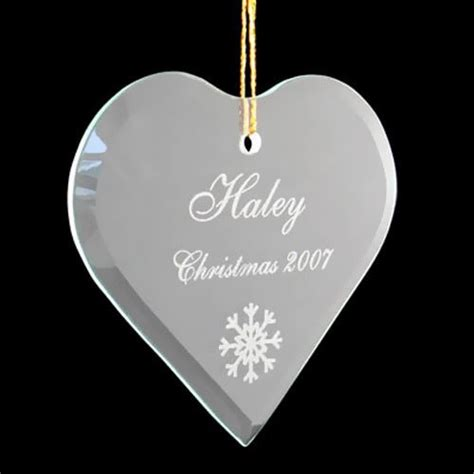 personalized glass ornaments personalized glass ornaments