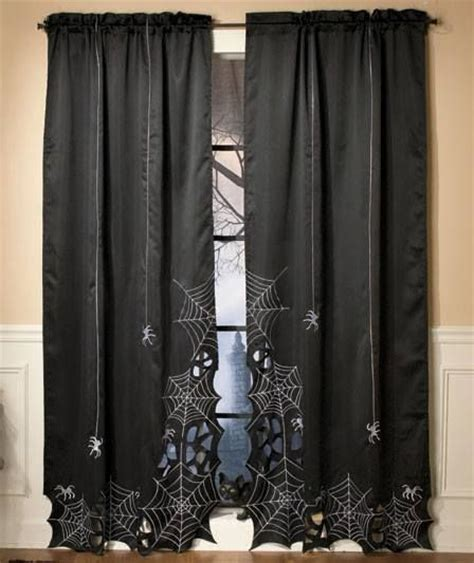 spider web curtains spider web curtains holiday stuff pinterest