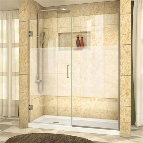 5 Shower Door Shop Dreamline Unidoor Plus 60 In To 60 5 In Frameless Hinged Shower Door At Lowes