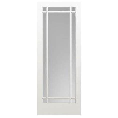 Masonite 36 In X 84 In Prairie Primed 9 Lite Solid Wood 36 X 84 Interior Door