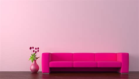 rendering red sofa with pink wall 3d house free 3d house pictures and wallpaper