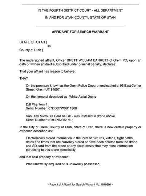 Utah Search Warrant Utah Charged With Drone Peeping The Gun