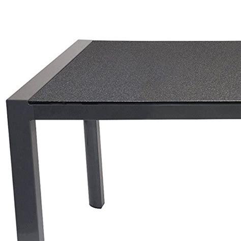 gartentisch gestell gartentisch aluminium gestell mit spraystone tischplatte