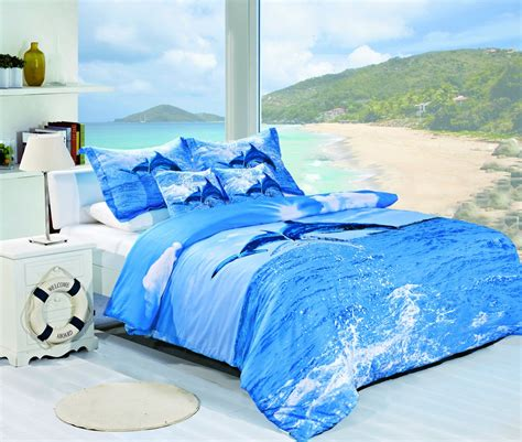 beach themed comforter sets breezy atmosphere in bedroom with 3 coastal bedding