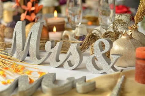 mr and mrs table decoration glitter mr mrs letters wedding table decoration
