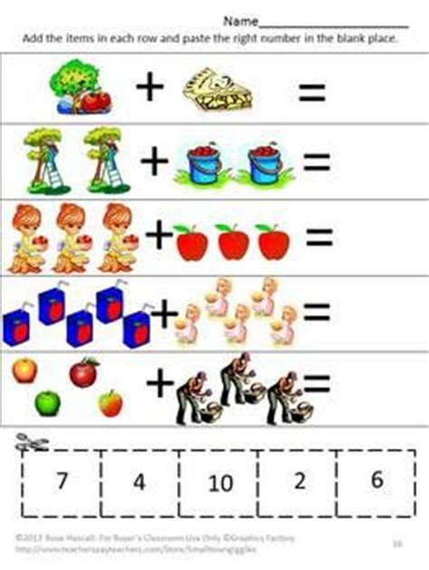 Fall Cut And Paste Worksheets by An Apple A Day Cut And Paste Worksheet Set Pre K K