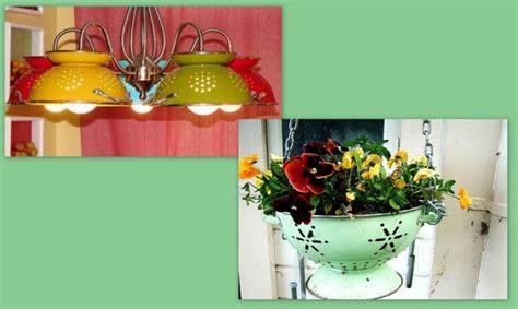 riciclare oggetti per arredare riciclo creativo come arredare casa con uno scolapasta 4