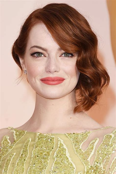 emma stone hairstyle 2015 celebrity hairstyles 2015 oscars 2015 celebrity hairstyles and makeup fashionisers