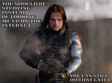 Winter Soldier Meme - winter soldier meme you should be studying by