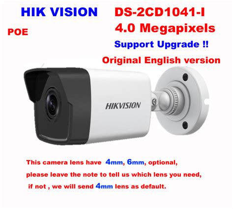 hikvision english ds cd  mp network ip camera poe
