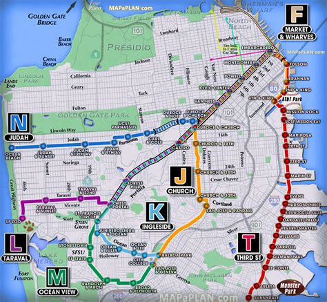 san francisco map attractions pdf muni subway map my