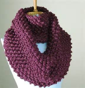 Knit Infinity Scarf Patterns Chunky Knit Infinity Scarf In Purple Fig Textured