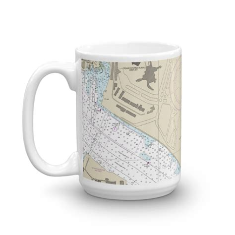 Rope Handle Canvas Tote Bag Intl boston harbor logan international airport chart mug