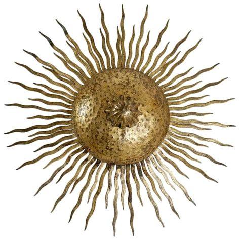 sun ceiling l mid century modern gold gilt sun chandelier or ceiling