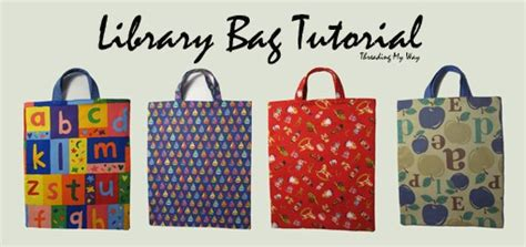 pattern for a library bag beginner s library bag tutorial patternpile com sew