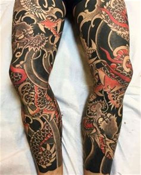 oriental anchor tattoo asian dragon leg sleeve tattoo design tattoos