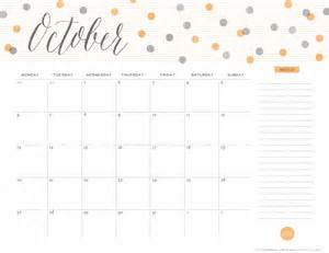 cute october 2016 calendar template calendar template 2017