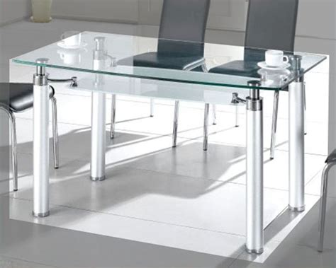 Metal Glass Top Dining Table Metal Dining Table W Glass Top Ol Dt34
