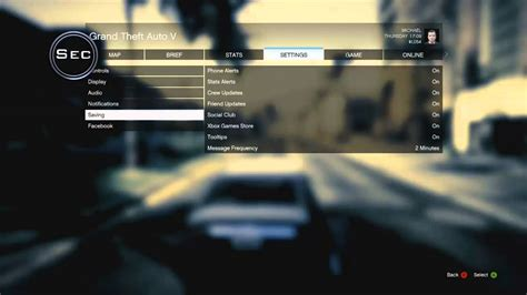 how to reset ps3 video output settings gta 5 settings map pause menu and more gta v x360