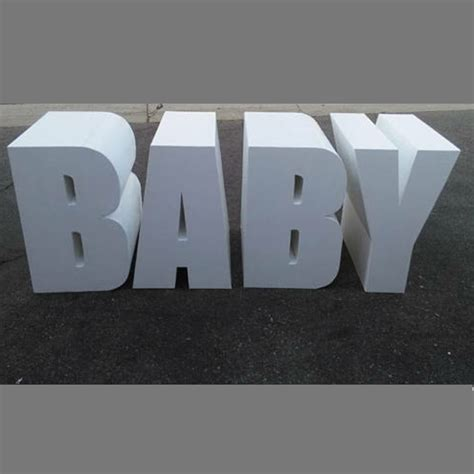 baby letter table  standing letters  borrowed party rentals burlington graham