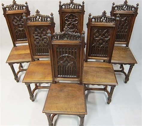 gothic dining room furniture 6 french antique dining chairs in gothic style