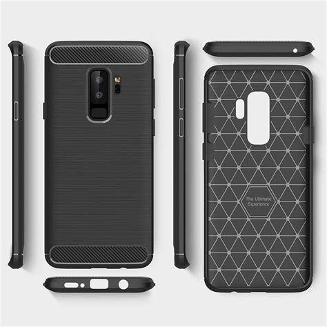 Samsung S9 Plus Softcase Carbon S9 Plus Cover Carbon S9 Plus black flexi carbon fibre texture samsung galaxy s9 plus