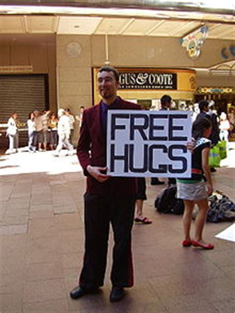 free hug guy free hugs caign wikipedia