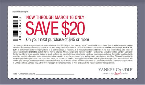 yankee candle coupons 15 off 45 printable yankee candle 20 off 45 printable coupon