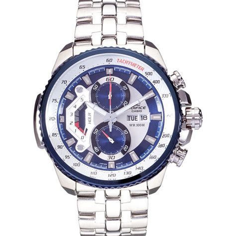 Edifice Ef 558 Blue Silver secretshop24 casio edifice ef 558d 2avdf silverblue