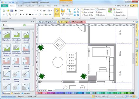 floor layout software change the drawing scale in floor plan