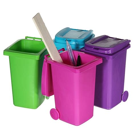 Stationery Desk Tidy by Mini Wheelie Bin Novelty Desk Tidy Desktop Stationery