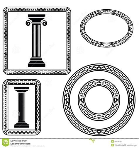 imagenes de simbolos griegos s 237 mbolos griegos ilustraci 243 n del vector imagen de cl 225 sico