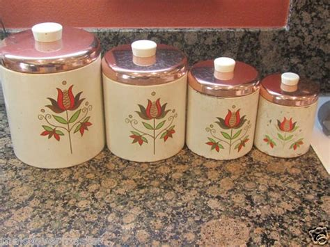 vintage ransburg metal kitchen canisters unique rhinestone design 108 best images about vintage ransburg goodness on