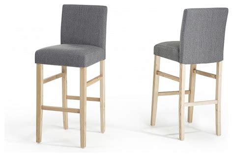 tabouret chaise de bar chaises de bar lot de 2 chaises en tissu gris