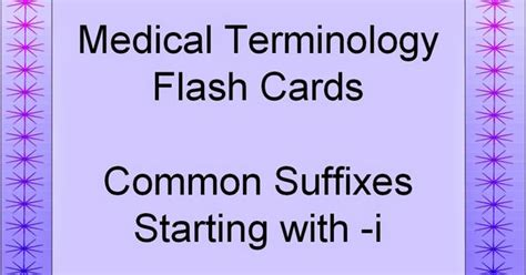 how to make terminology flash cards common suffixes terminology flash cards