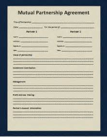 Mutual Agreement Contract Template Mutual Agreement Example Free Word S Templates