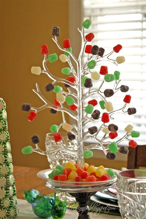 southern scraps spearmint trees and a candy tablescape