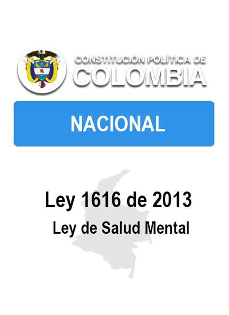 importancia ley 1616 de 2013 ley 1616 de 2013 ley de la salud mental conozca la ley