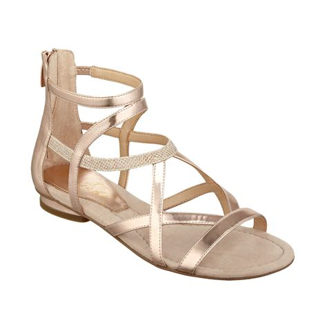 gladiator sandals macy s lyst marc fisher gladiator sandals in metallic