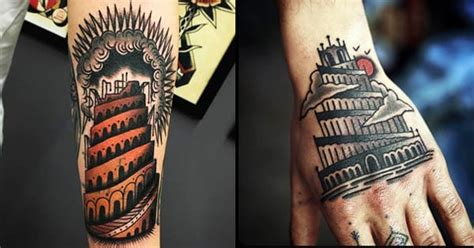 babylon tattoo 10 monumental tower of babel tattoos tattoodo