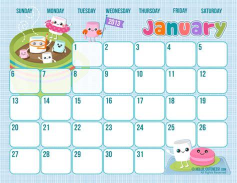 printable calendar 2014 cute 8 best images of cute free printable calendar templates