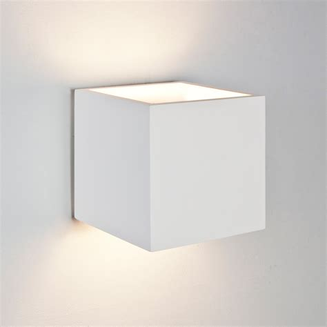 white cube wall light astro pienza square cube ceramic plaster wall light 60w