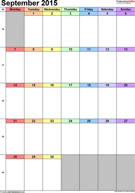 Calendar 2015 September Uk Calendar September 2015 Uk Bank Holidays Excel Pdf Word
