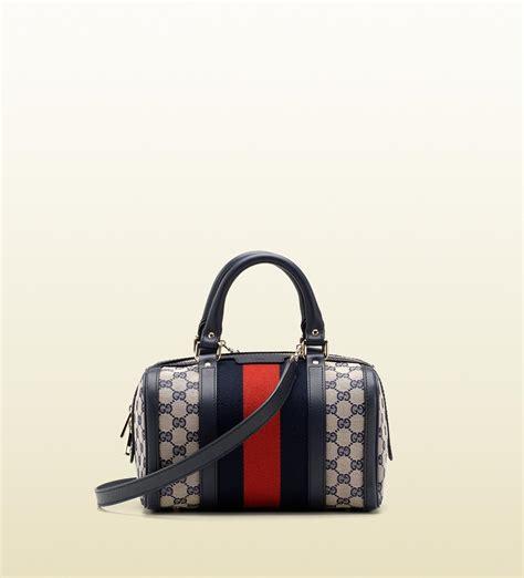 Gucci Boston Bag by Gucci Vintage Web Original Gg Canvas Boston Bag In Gray Lyst