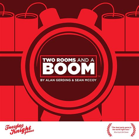two room and a boom top card and board for adults to