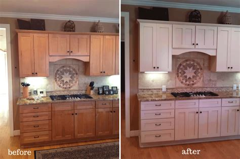 painting oak kitchen cabinets before and after painted cabinets nashville tn before and after photos