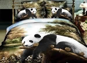 Panda Bed Set Beautiful King Size 3d Panda Bear In Tree Design Duvet