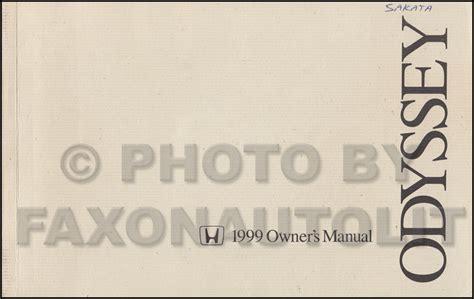 car engine repair manual 1999 honda odyssey user handbook 1999 honda odyssey owner s manual original