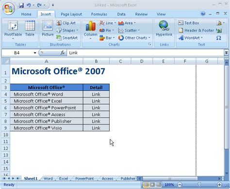 membuat link worksheet belajar microsoft office itc word excel powerpoint