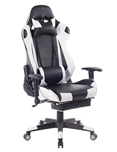 office chair with headrest and footrest killbee ergonomic gaming chair with footrest large